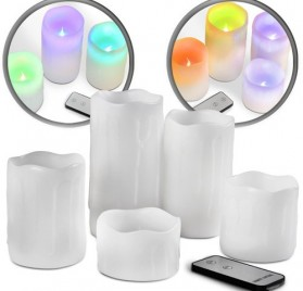 Set de 3, 4 o 5 velas led con cambio de color marca Jago