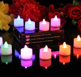 12 Velas LED a Batería con LED de color cambiante marca PK Green