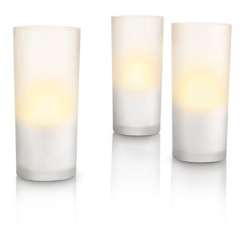 Set de 3 velas LED Imageo Candlelights, color blanco marcaPhilips