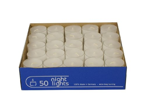 Set de 50 velas de té, marca Wenzel-Kerzen