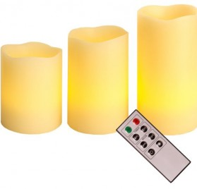 Set de 3 velas led con mando a distancia 066-70 de Best Season