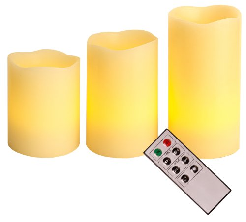 Set de 3 velas led con mando a distancia 066 70 best season - Velas led con mando ...