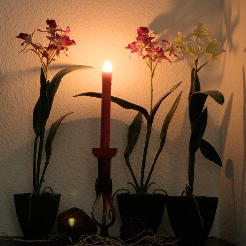 Best-Season-067-25-Lote-de-velas-led-2-unidades-funcionan-con-pilas-luz-blanca-clida-23-cm-color-rojo-0-0