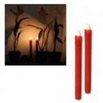 Set de 2 velas Led rojas 067-25 de Best Season