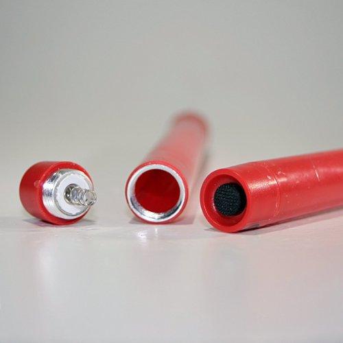Best-Season-067-25-Lote-de-velas-led-2-unidades-funcionan-con-pilas-luz-blanca-clida-23-cm-color-rojo-0-3
