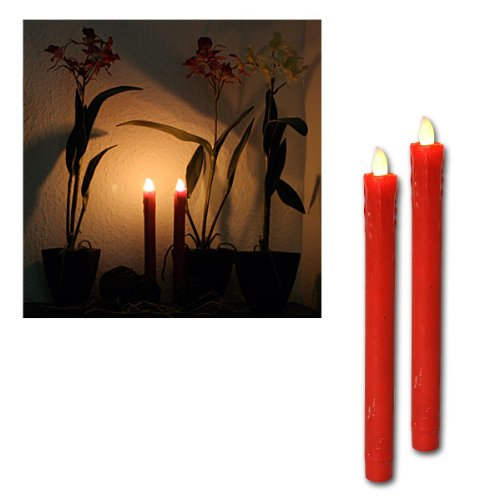 Set de 2 velas Led rojas 067-25 de Best Season