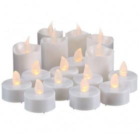 Juego de velas led blancas y portavelas, 067-32 de Best Season