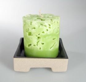 Vela perfumada verde con fragancia de cilantro de Leewadee