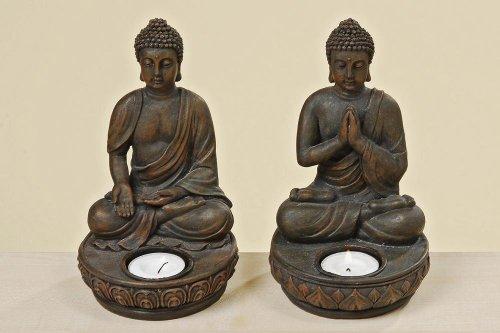 2 Portavelas Buda Feng Shui, de Tinas Collection