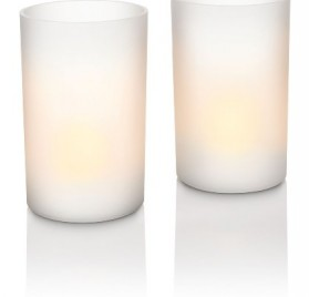 Juego de 2 velas led blancas Philips Candlelights