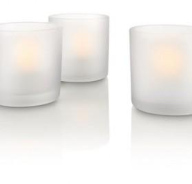 Set de 3 velas led blancas Philips Tealights