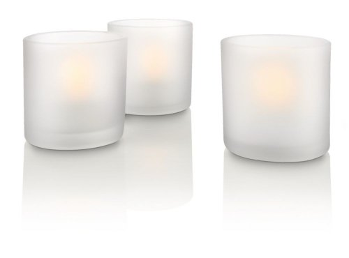 Set de 3 velas led blancas Philips Tealights
