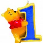 Vela de cumpleaños número 1 Winnie the Pooh