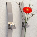 2 candelabros/floreros de pared