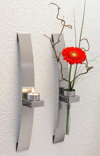 Chg 3342 00 candelabro florero de pared 2 unidades 39 - Candelabros de pared ...
