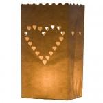10 portavelas para bodas de papel, diseño corazones, de Kurtzy
