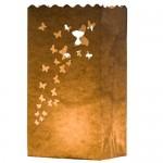10 portavelas para bodas de papel, diseño mariposas, de Kurtzy