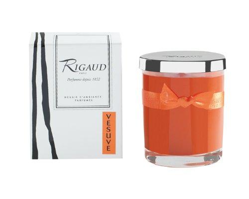 Vela tamaño pequeño color naranja BPM287705 Vésuve de Rigaud