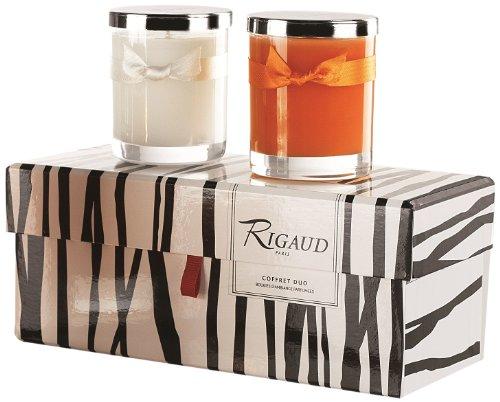 Velas 2 unidades, en estuche, aromas vesuvio y gardenia color naranja y blanco COF287703 de Rigaud