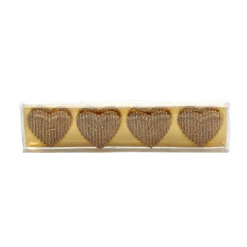 4 Velas flotantes brillantes con forma de corazón de Salco Landon Tyler