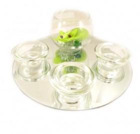 Juego de velas flotantes 'Belle De Soie' verde