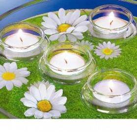 4 soportes flotantes para velas de té
