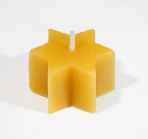 Vela de té de cera de abeja en forma de estrella