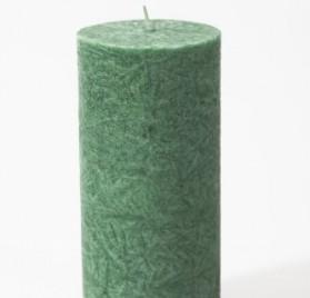 Vela natural cilíndrica pilar Verde.