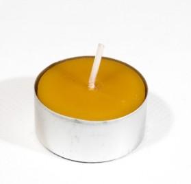 Caja de 42 velas de té de cera de abeja 100% pura