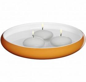 Plato hondo decorativo con 3 velas flotantes de WMF Deko