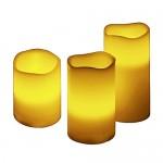 Set de 3 velas LED beige a baterías marca MM Spezial