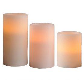 Juego de velas LED a baterias de 3 piezas marca Best Season