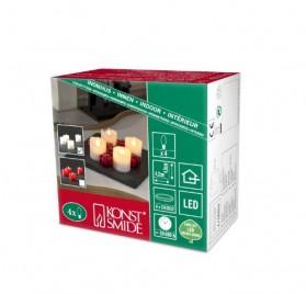 Juego de velas de luces LED blanco con cera auténtica a baterías marca Konstsmide