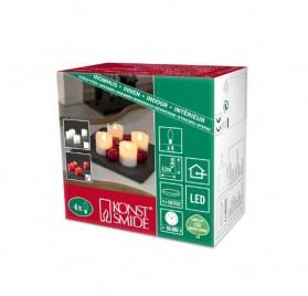 Juego de velas de luces LED con cera auténtica a baterías marca Konstsmide