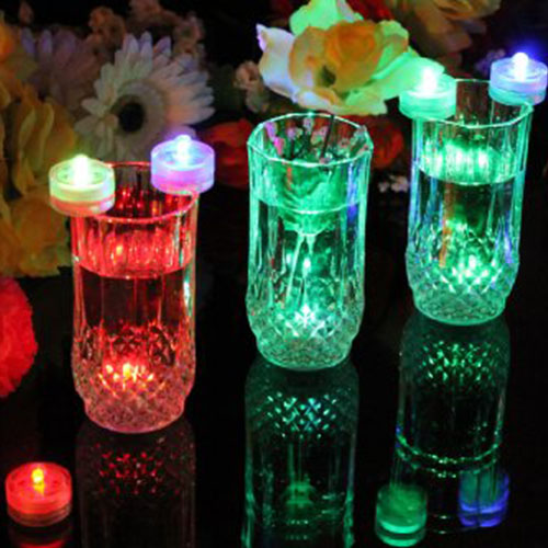 Velas LED PK Green 10 unidades sumergibles con color cambiante