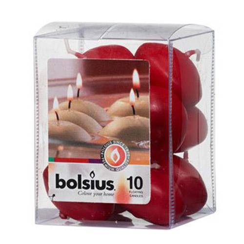 Velas flotantes de color rojo Bolsius