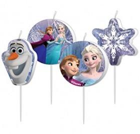 4 velas del cumpleaños Frozen