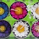 Juego de 10 velas Hana Blossom con aroma diseño de nenúfar
