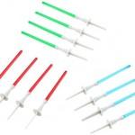 12 Velas para tartas con diseño de espadas láser