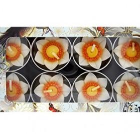 10 velas aromáticas Hana diseño de narciso