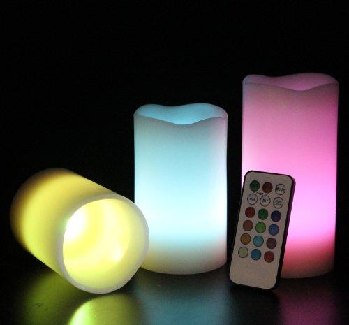 Frostfire-Mooncandles-6014-Velas-decorativas-con-luz-olor-a-vainilla-con-mando-3-unidades-de-10-13-y-15-cm-0-3