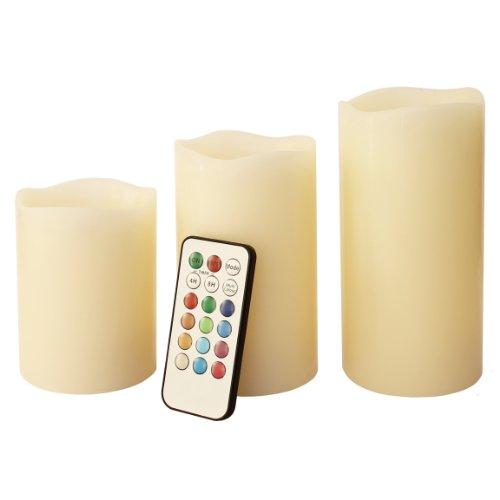Frostfire-Mooncandles-6014-Velas-decorativas-con-luz-olor-a-vainilla-con-mando-3-unidades-de-10-13-y-15-cm-0