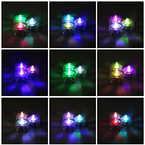 12 Velas LED Sumergibles Bajo Agua Xcellent Global LD040