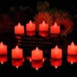 12 Velas rojas sin llama con luz LED, color rojo de PK Green
