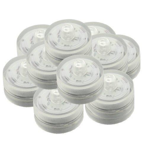 12 velas LED blancas impermeables y sin llama