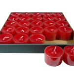 Set de 25 velas de té rojas Night Lights formato ahorro