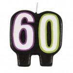 Vela de cumpleaños con el número 60 de Unique Party