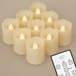 Pack de 9 velas LED de té Koopower con control remoto