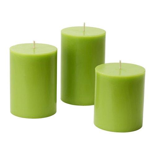 Pack de 3 velas aromáticas Nykär de color verde
