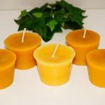 Set de 5 velas de cera de abeja 100% pura de Naturra